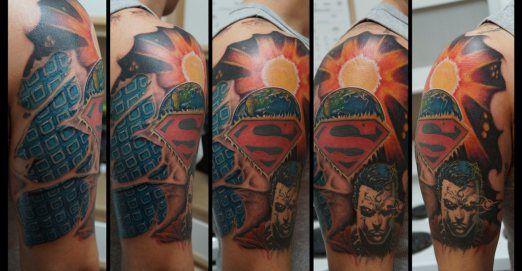 131 best superhero tattoos images on pinterest tattoo for Superhero tattoo sleeve