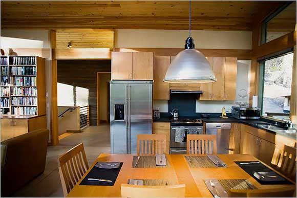 contemporary log cabin interior - Google Search