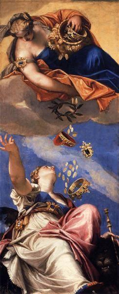 Juno Showering Gifts on Venetia, 1554-1556 - Paolo Veronese