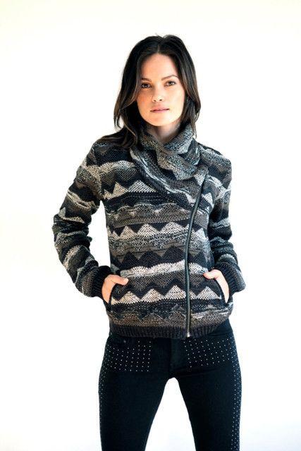 Goddis Lany Bomber Knit Jacket in Teak
