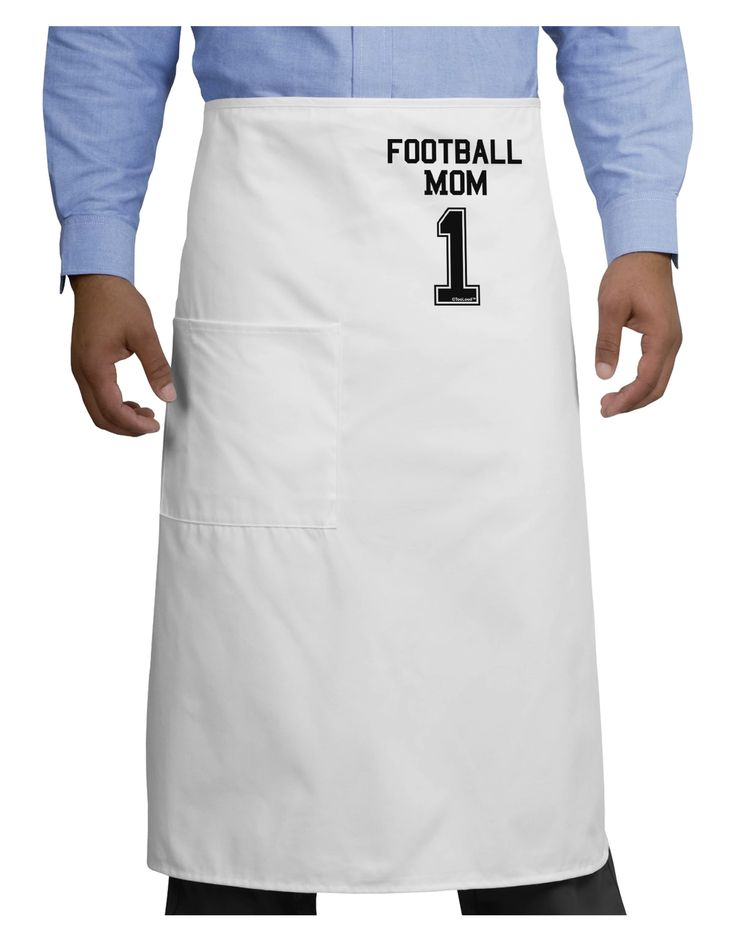 TooLoud Football Mom Jersey Adult Bistro Apron