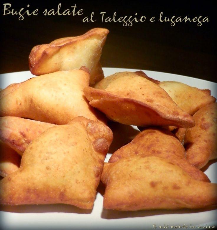 Il mio mondo in cucina: BUGIE  salate al TALEGGIO e LUGANEGA