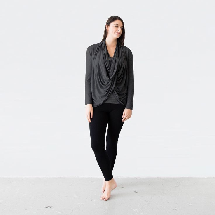 Perfect for capsule wardrobes, The Everyday Twist Top can be worn 5 ways. Ethically made from sustainable fabric.
