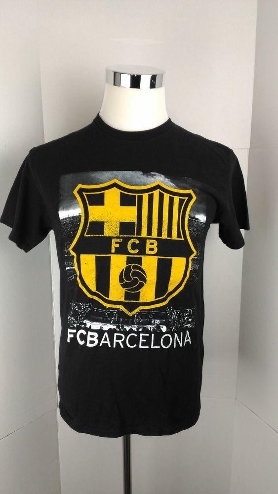 90213bd0e62 Black FC Barcelona Camp Nou Men's Medium Graphic T Shirt A06-13 #FCBarcelona  #TShirt