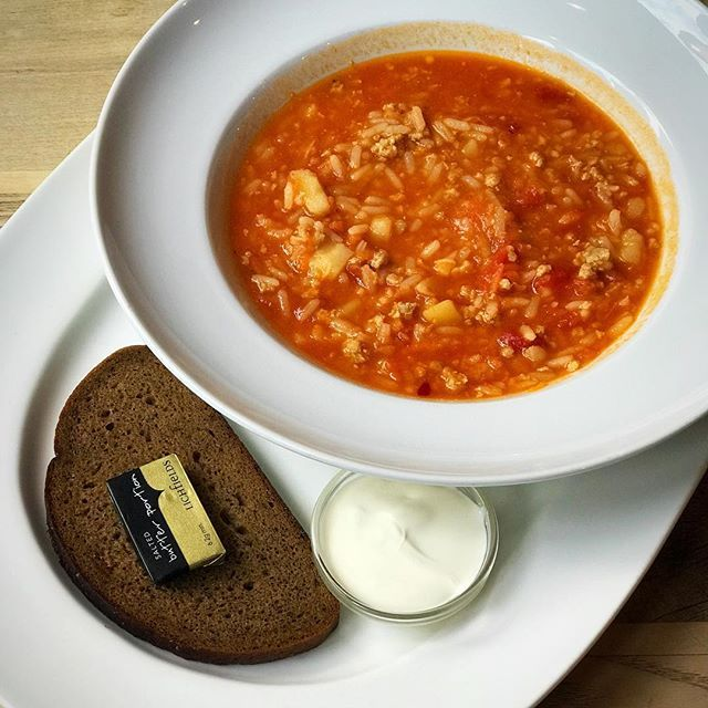 Its soup weather . Some veggie and meat soup from @ Cafe Cossachok _ - - #winter #winterwarmer #winterfood #glasgow #glasgowfood #glasgowfoodie #foodieexplorers #russianfood #comfortfood #lunch