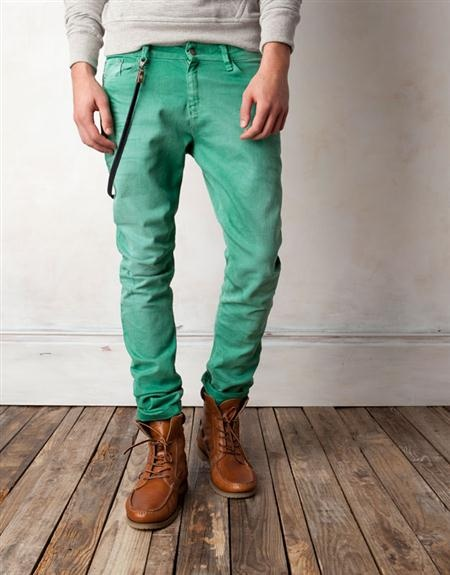 green jeans &amp boots . menswear | MEN | Pinterest | Colored pants