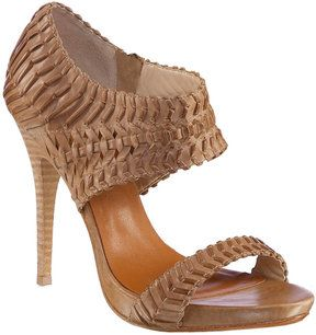 Leather sandals - Max Studio Woven Leather Platform Sandals