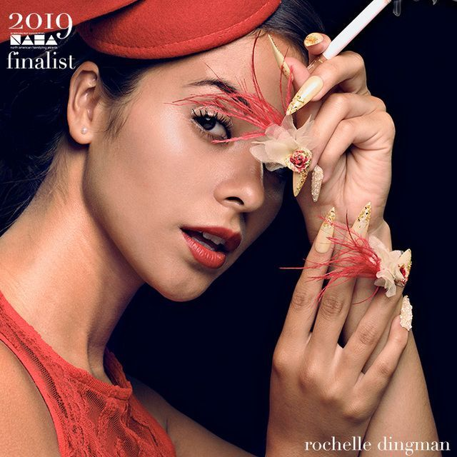 2019 Naha Finalist Rochelle Dingman Nail Professional Of The Year Nailstyle Red Nail Art Trendy Nails Naha