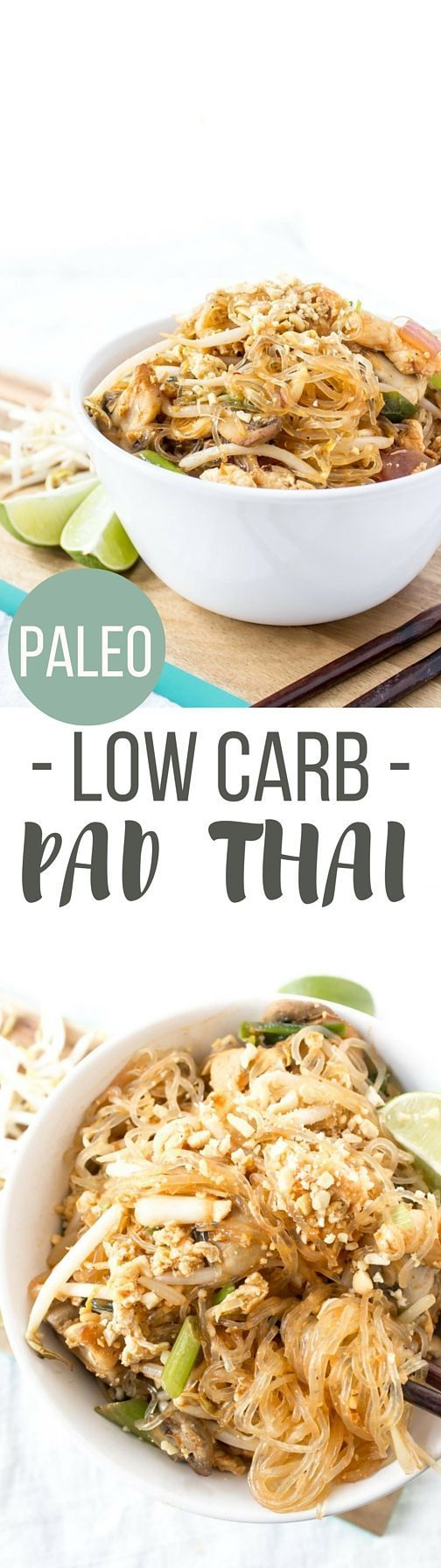 Low Carb Pad Thai! This delicious paleo meal tastes totally authentic and packs a nutritional punch!