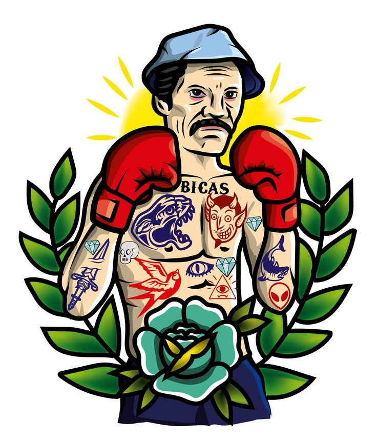traditional , tradicional , tatto , don ramon , chavo del 8 , flor , boxeador , boxeador tradicional tatto