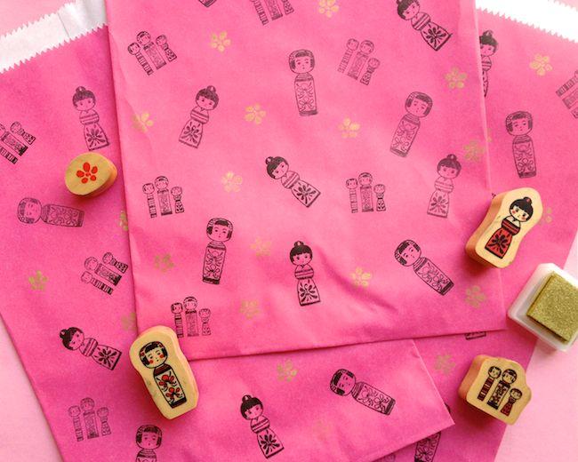 Omiyage Blogs: Send Pretty Mail #41-45 - Kokeshi Mail