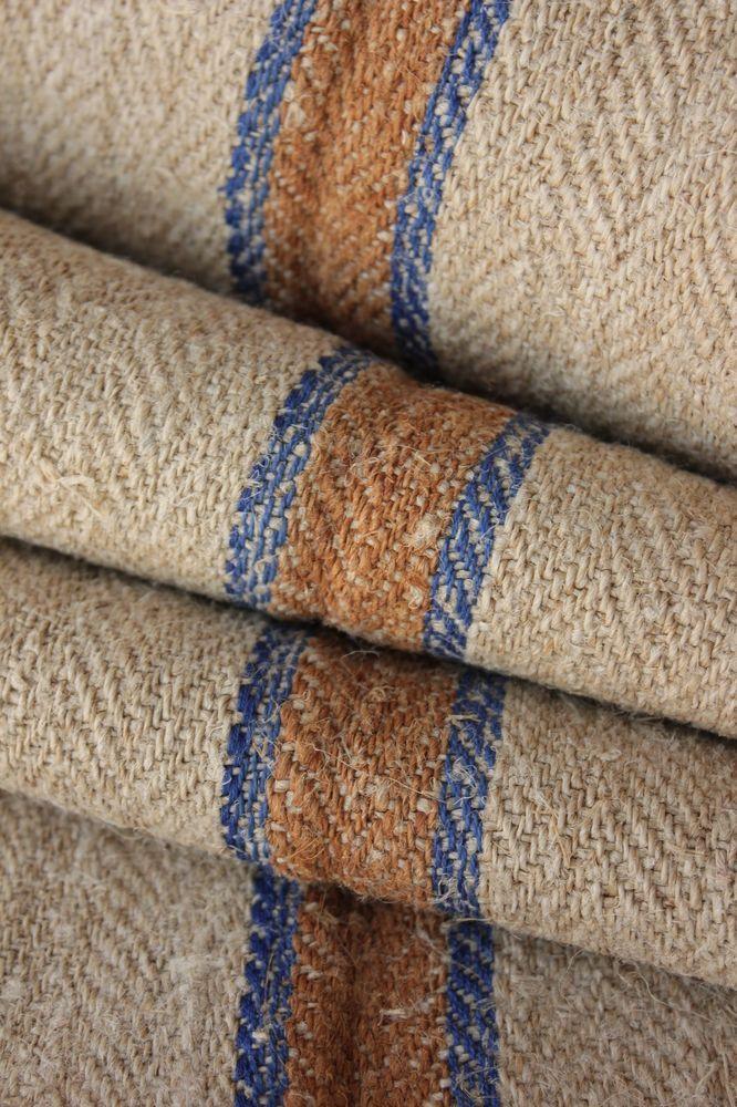 Grain Sack Fabric Stair Table Runner Hemp Rug Per 1 Yd