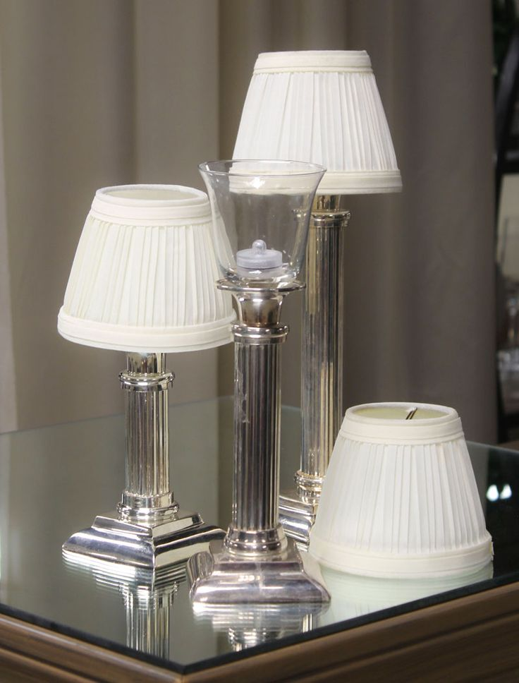 Cabaret lamps with silver base