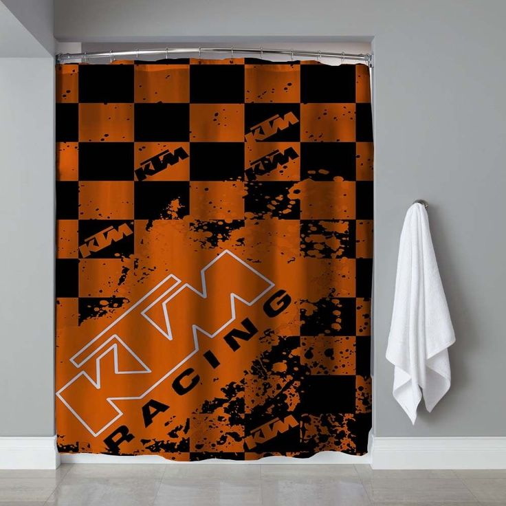 KTM Racing Splash Logo Shower Curtain High Quality 60 x 72 Limited Edition #Unbranded #Modern #Cheap #New #Best #Seller #Design #Custom #Gift #Birthday #Anniversary #Friend #Graduation #Family #Hot #Limited #Elegant #Luxury #Sport #Special #Hot #Rare #Cool #Top #Famous #Shower #Curtain