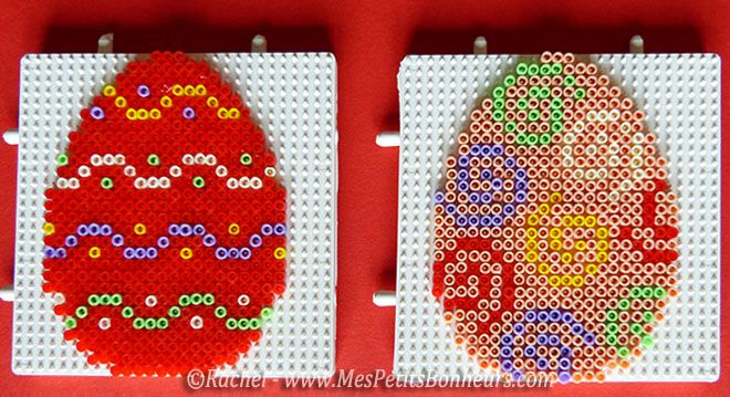Easter eggs hama mini beads by Rachel - Mes Petits Bonheurs