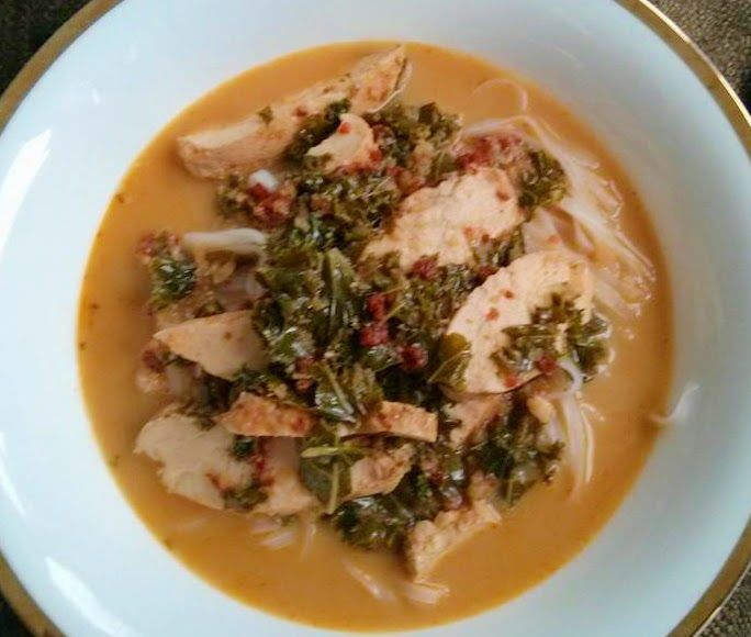 His Domesticated Culinarian: Spicy Mango Chicken Noodle Soup