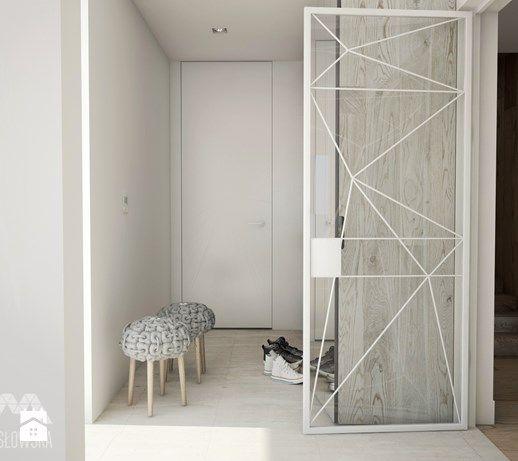 Projekt domu w Józefowie - Hol / przedpokój, styl minimalistyczny - zdjęcie od Ania Masłowska