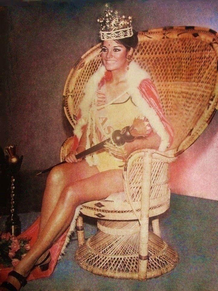 Zeenat Aman as MISS ASIA 1970 winner