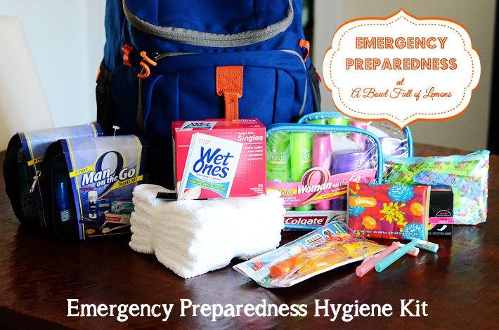 Emergency Preparedness 72 hour hygiene kit.