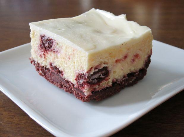 Red Velvet Oreo Cheesecake Bars http://www.instructables.com/id/Red-Velvet-Oreo-Cheesecake-Bars/
