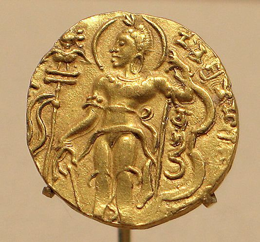 Gold Coin Showing King Chandragupta II as an Archer - c. AD 376-414 - Gupta Period - India. The Metropolitan Museum.