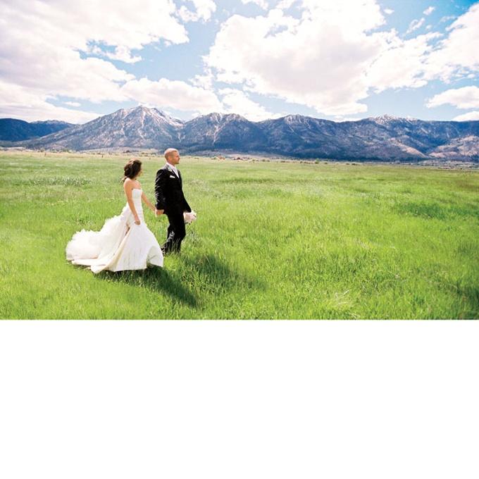 Don't you love this Lake Tahoe wedding shot? Photo: Jose Villa.