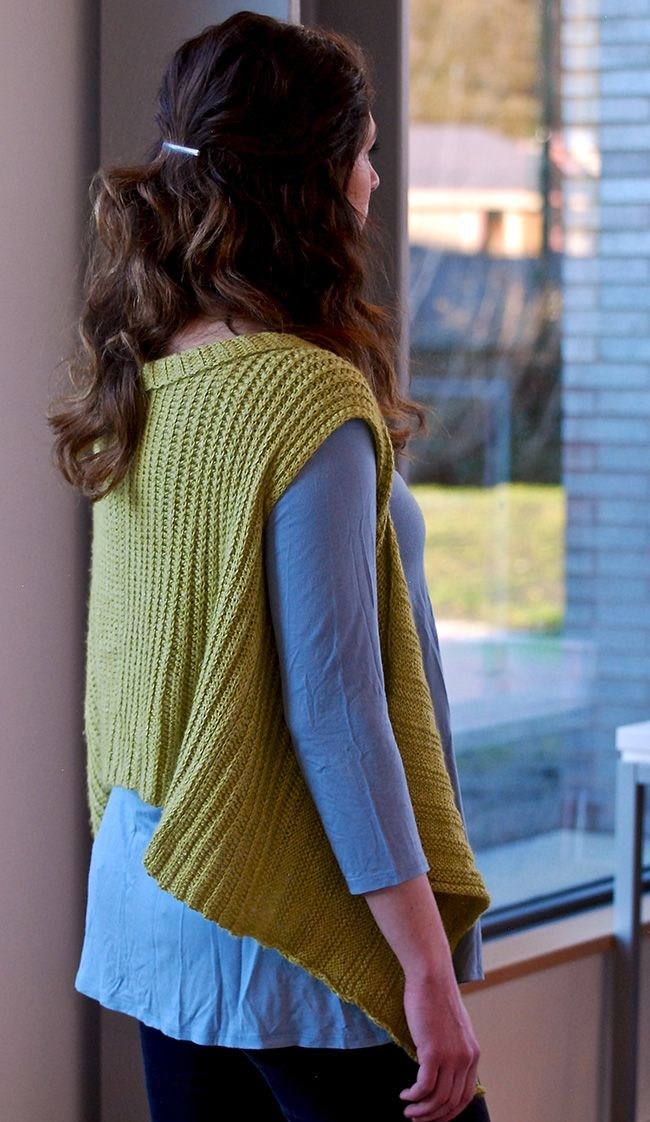 Mod waterfall vest | half-double crochet (Plays Well ...