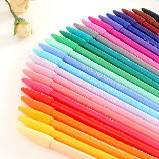Hotsale 24 colour pen,pastel, Wholesale Free shipping Kawaii Ball Pen-in Ballpoint Pens from Office  School Supplies on Aliexpress.com $25.27