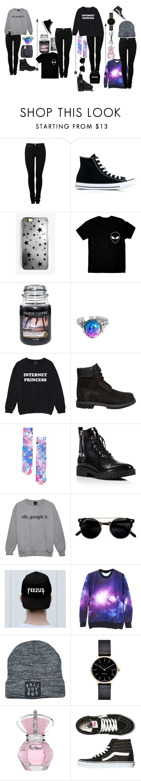 """dan howell inspired outfits"" by aholabeth on Polyvore featuring MM6 Maison Margiela, Converse, Rianna Phillips, Yankee Candle, Timberland, Kendall + Kylie, Myku and Vans"