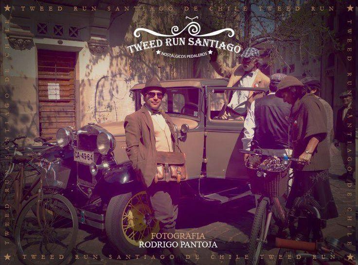 """TWEED RUN SANTIAGO. Paseos en bicicleta """"Tweed Run"""" por las calles de Santiago de Chile."""