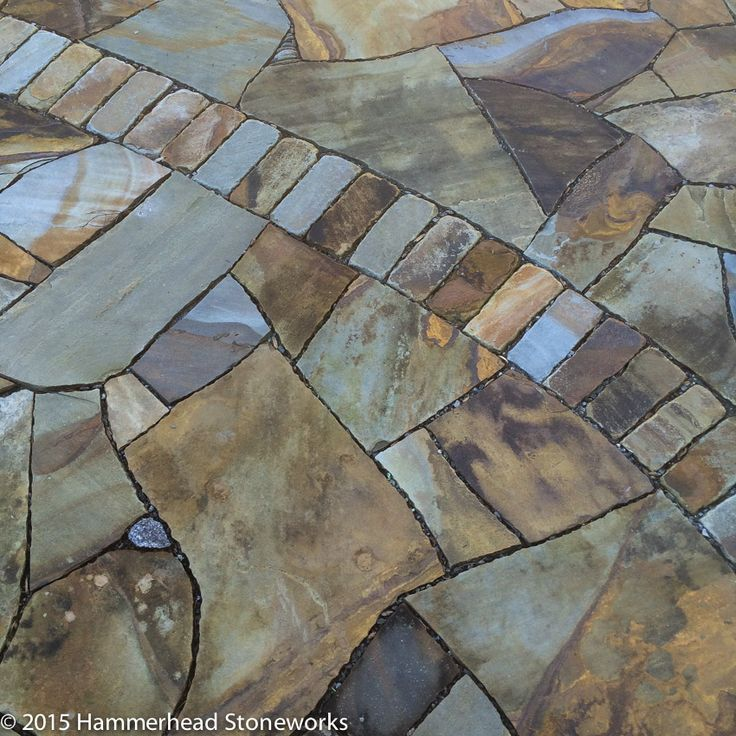 Permeable Drain Integrated Into Beautiful Stone Patio   Hammerhead  Stoneworks