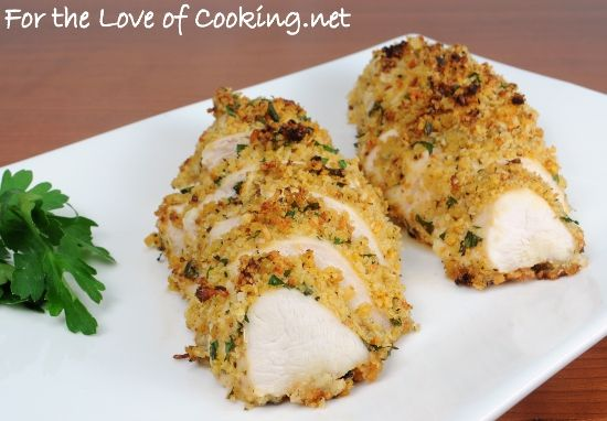 Mustard-Herb Panko Crusted Chicken Breasts