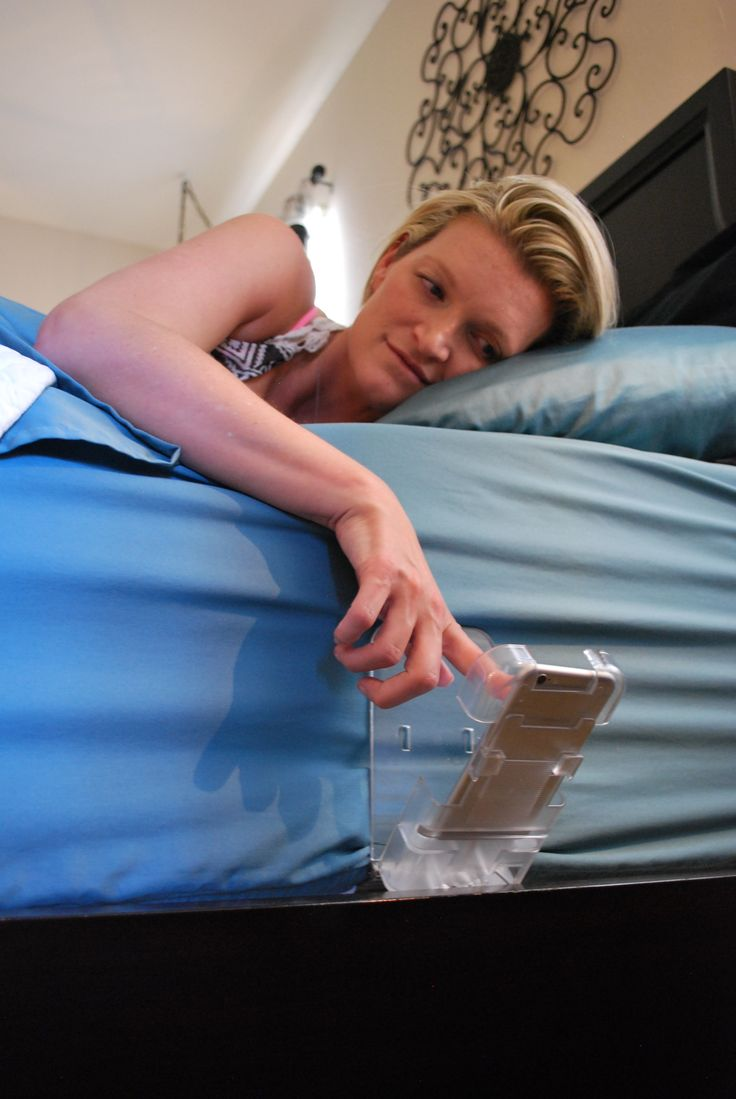 The Holding Cell- It's compatible with all smartphones, cell phones, mobile phones, baby monitors or remote controls. It can be used anywhere- on a bed, couch, dorm, wall, kitchen, bathroom, office, garage, boat, RV or Hospital Bed. Get the mobile support you need anytime, anywhere, without disrupting your sleep or your morning.