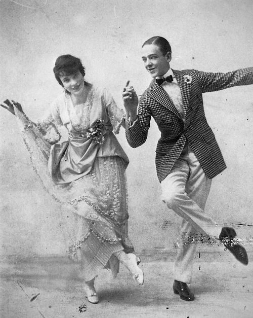 Fred and Adele Astaire in vaudeville, 1915. Fred's future dance partner Ginger Rogers performed on vaudeville under the name Jenny.