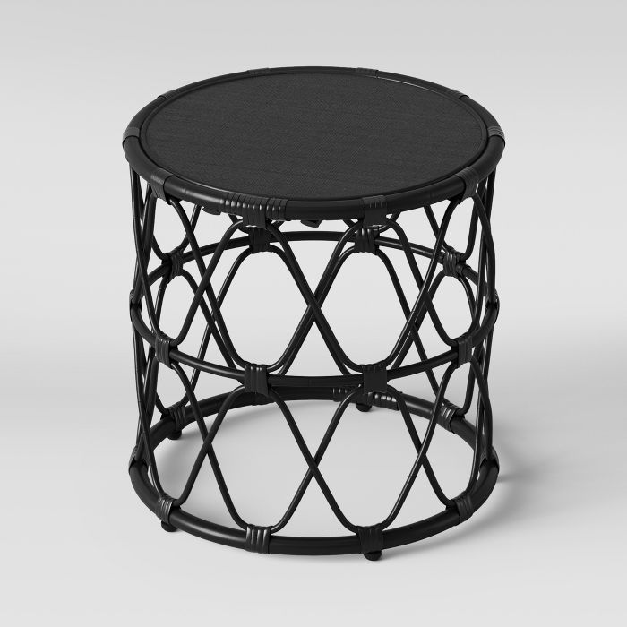 Admirable Jewel Round Side Table Black Opalhouse Fl In 2019 Machost Co Dining Chair Design Ideas Machostcouk