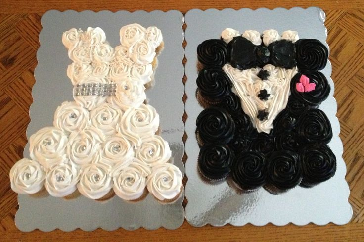 Cupcake Wedding Dress and Tuxedo! www.SNOSweets.com