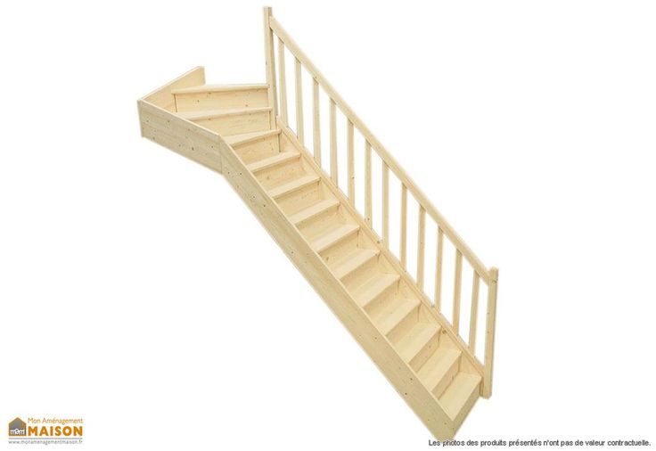 Votre escalier à quart tournant haut de chez Levigne est en sapin. L'escalier existe dans deux modèles : avec tournant à droite ou à gauche. L'escalier possède des contremarches, une rampe à fuseaux et un poteau de soutien. La hauteur sol-plafond ... (suite)