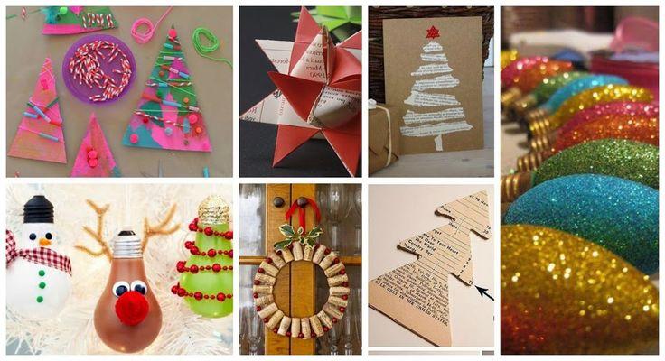 Decoraci n navide a a mano con materiales de for Decoracion navidena artesanal