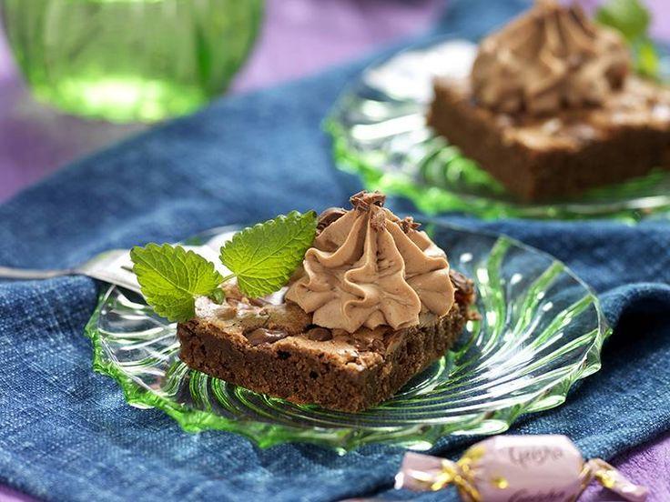 Brownies med choklad och geisha i långpanna recept