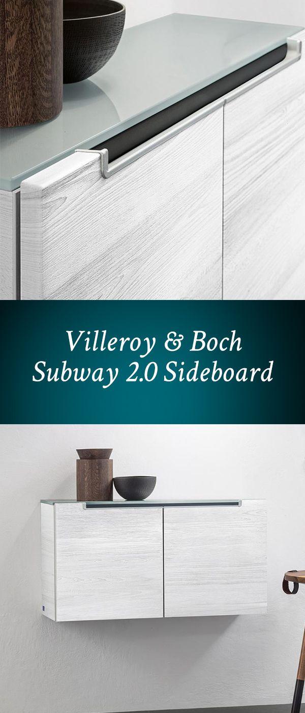 Villeroy & Boch Subway 2.0 Sideboard: Das wandhängende Sideboard verfügt 2 Türen mit Dämpfer, so lassen sich die Türen stets sanft schließen (SoftClosing) und einen Fachboden für Ihre Utensilien. Lassen Sie sich von qualitativem Design überzeugen! #badmöbel #sideboard #white #wood #holz #weiß #bad #badezimmer #schrank #wandhängend #hängend #türen #fachboden #villeroyboch #subway2 #modern #reuter #reuterde