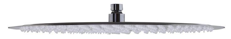 "ALFI brand RAIN16R-BSS Solid Brushed Stainless Steel 16"" Round Ultra Thin Rain Shower Head"