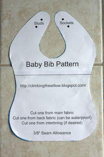 Baby Bib - Get Free Pattern Here: http://climbingthewillow.blogspot.com/2013/06/baby-bib-tutorial.html