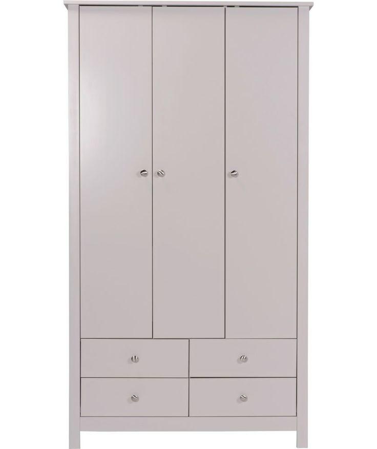 Buy Osaka 3 Door 4 Drawer Wardrobe - Grey at Argos.co.uk - Your Online Shop for Wardrobes.