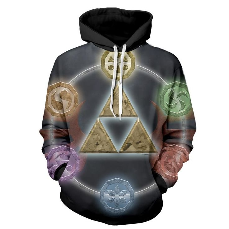 The Legend Of Zelda Awesome Symbol Of The Time Hoodie. #TheLegendOfZelda #Awesome #Symbol #Time #Hoodie