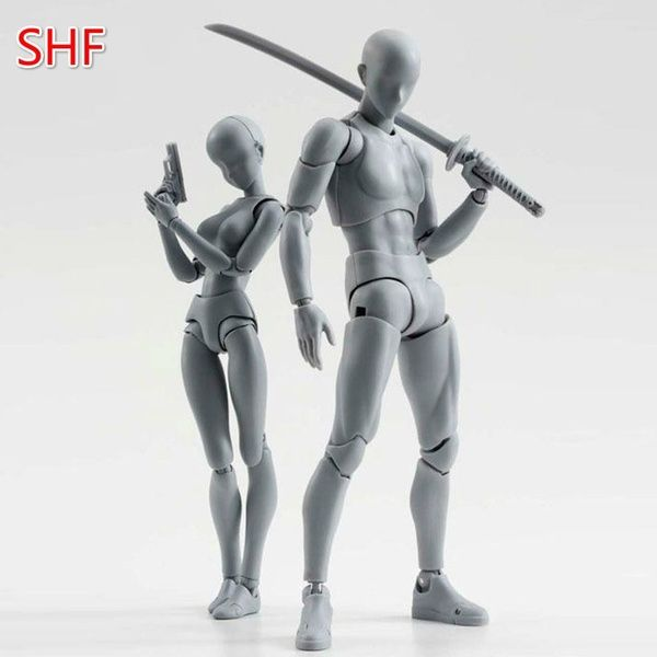 2020 Body DX Set Chan Female Kun Male Gray Ver Doll PVC Figure SHF Figuarts SET
