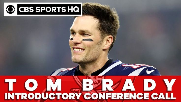 Tom Brady being introduced by the Tampa Bay Buccaneers via