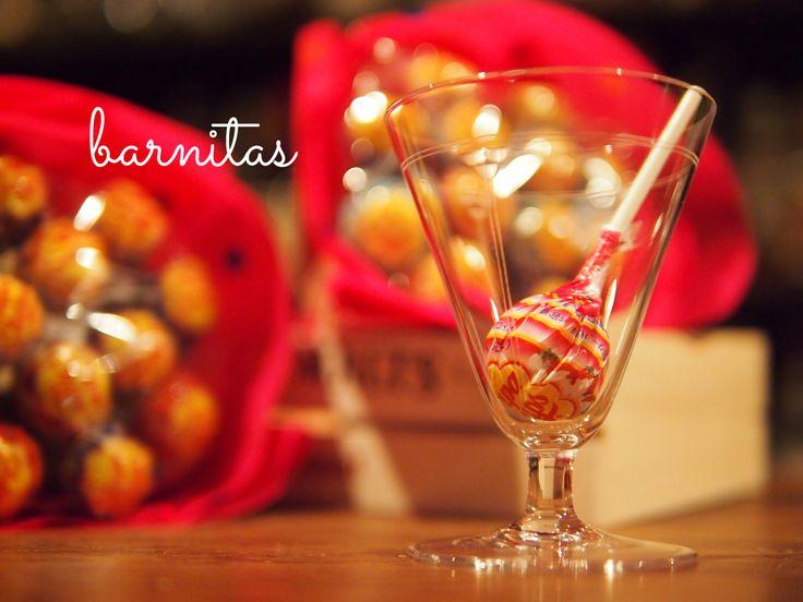 お客さんに頂いたチュッパチャプスの花束(>人<;)