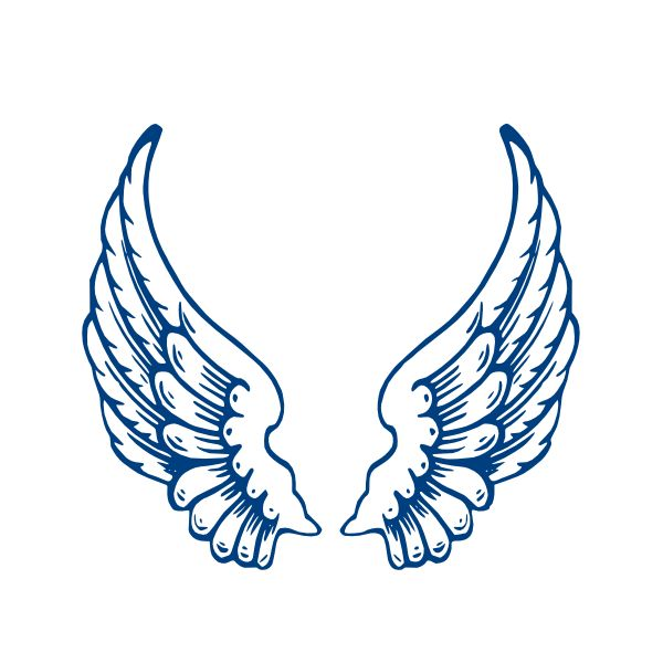 angel wings template | Largeangelwings clip art - vector clip art online, royalty free ...
