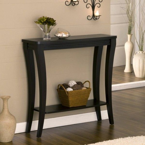 narrow sofa table with shelf diy small storage hallway foyer tables