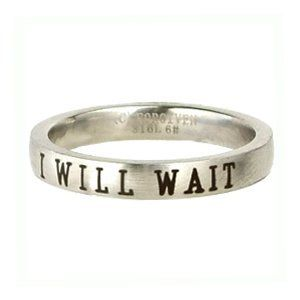 Christian Women's Stainless Steel Petite I Will Wait Abstinence Chastity Purity Ring for Girls: Jewelry: Amazon.com